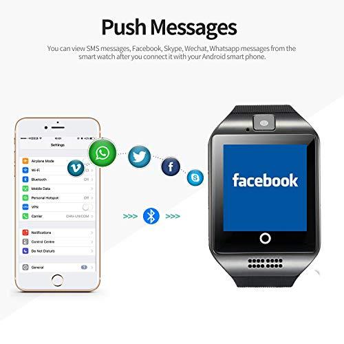 Smartwatch Bluetooth Smart Watch SN06 mit Touchscreen Kamera SIM-Karte Slot Fitness Tracker Sport Uhr für Samsung LG Sony Huawei Xiaomi Android phones iPhone ios für Damen Herren Kinder (Schwarz) - 4