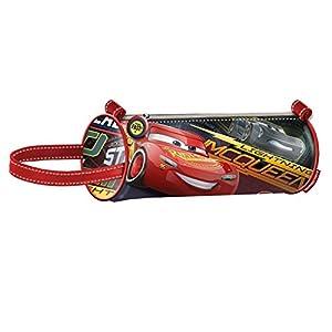 Cars 3 Estuche portatodo cilindrico, Color Rojo, 22 cm (Karactermanía 32485)