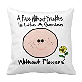 Fiori in Heart Graphic Pink Red Love throw Pillow case 45,7x 45,7cm, V-24, 18*18