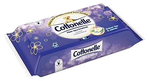 Cottonelle Feuchte Toilettentücher mein Spa Erlebnis mit Grüner Tee und Jasmin Extrakten (42 Tücher), 1er Pack (1 x 42 Stück) -