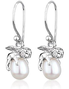 Perlu Damen-Ohrringe 925 Sterling Silber Süßwasserzuchtperle 307931912