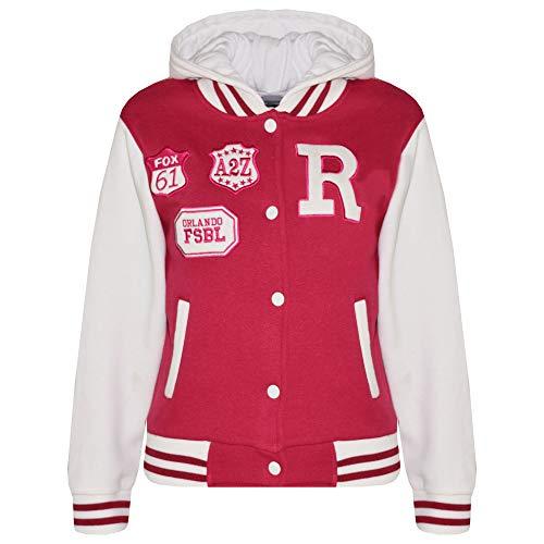 A2Z 4 Kids Unisex Kinder R Fashion Aufdruck - Baseball Jacket Pink 9-10