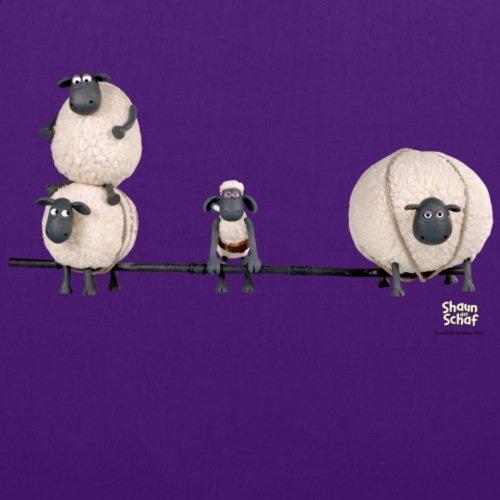 Spreadshirt Shaun das Schaf Stoffbeutel Lila