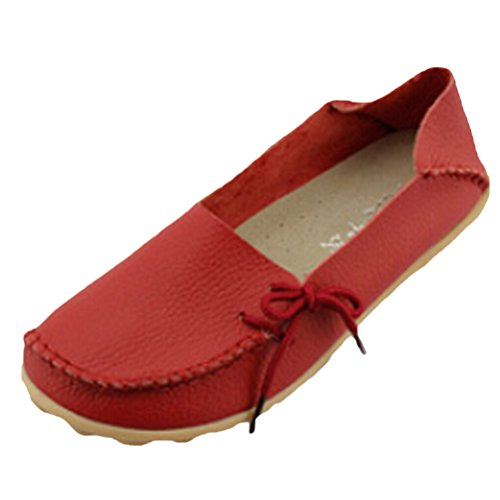 Vogstyle Mocassin Femme Casual Plat Tout-Match Chaussures Sandales Style 1 Rouge