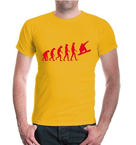 buXsbaum® T-Shirt The Evolution of snowboarding Sunflower-Red