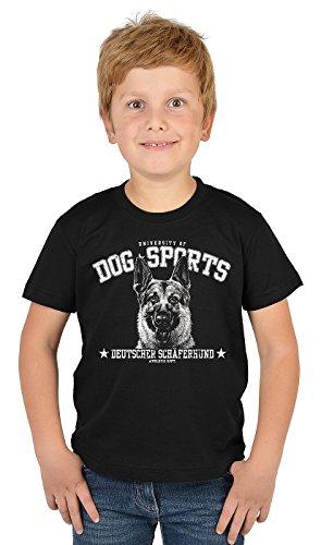 Jungen Shirt Deutscher Schäferhund Kinder Hunde T-Shirt - Dog Sports Deutscher Schäferhund - bewährte Qualität - Teenager Buben Tier Print Top Gr. 5 - 14 Jahre in schwarz Gr: XL (Kleidung Schäferhund Deutscher)
