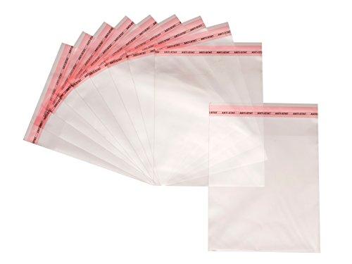 Bustine trasparenti autoadesive in cellophane, sacchetti stacca e attacca in plastica OPP (polipropilene orientato), 100 pezzi 15cm x 25cm