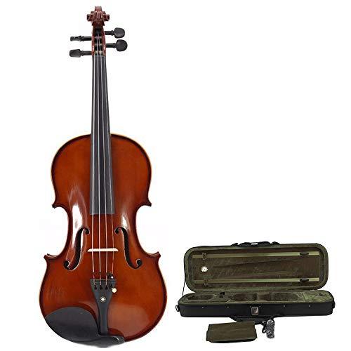 Glossy Perfekte Finish (Kinder-Violine Handcrafted Solid Glossy Finish Akustische Violine Mit Hard Case Mit Bogen Kolophonium Für Studenten Anfänger Ahorn Naturholz Geige Kit Volle Größe 4/4, 3/4, 1/2, 1/4, 1/8, 1/16 Perfekt)