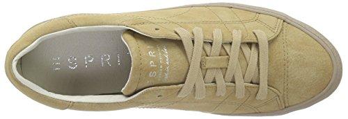 Esprit Miana Lace Up, Baskets Basses Femme Marron (250 khaki beige)