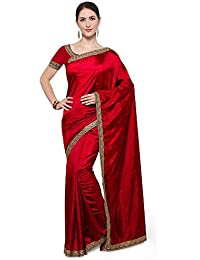 Saree Mall Women's Silk Saree With Blouse Piece (4Rbt3006_Red)