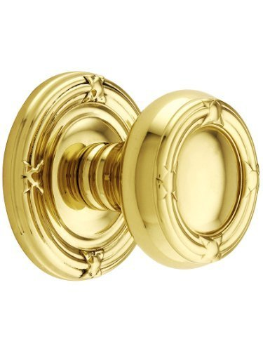 Reed Door Knob (Ribbon And Reed Door Set With Round Brass Knobs Double Dummy In Polished Brass. Old Door Knobs. by Emtek)
