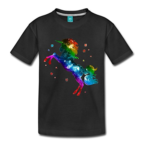 Spreadshirt Rainbow Galaxy Unicorn Kids' T-Shirt
