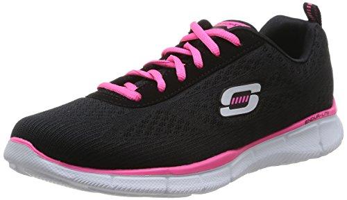 Skechers Equalizer True Form, Chaussures de sports en salle femme Noir (Bkhp)