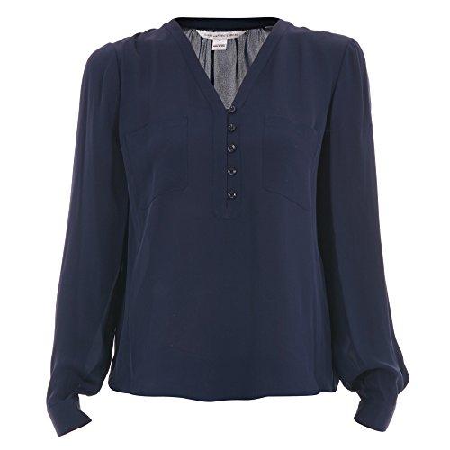 diane-von-furstenberg-blusa-donna-s990501u16wmidnight-seta-blu