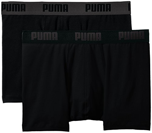 2p Shorts (PUMA Herren Bodywear Basic Boxer 2P, Black, M, 521015001)