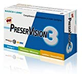 Bausch + Lomb PreserVision 3 60 Capsules est un complément alimentaire à visée oculaire.Il est riche en vitamines et sels minéraux anti-oxydants, pigments maculaires (lutéine et zéaxanthine) et acides gras omega 3.