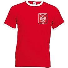 Camiseta de fútbol de Polonia Lewandowski para hombre Rojo Y Blanco Small   89 cm- 85dfaf1434dac