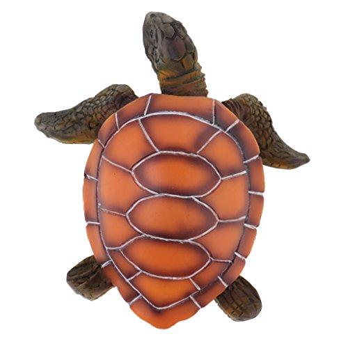 MagiDeal Meeresschildkröte Modell aus Harz, Dekoation für Sammler Aquarium Haus Tisch, 11 x 10,5 x 4 cm