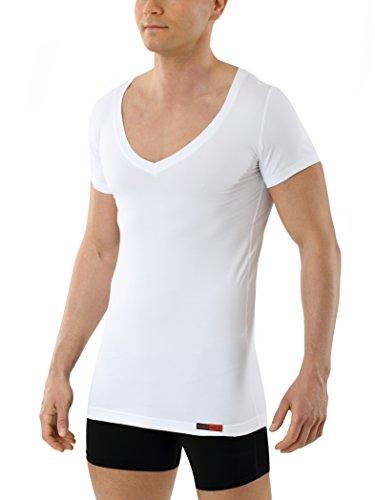 ALBERT KREUZ maglietta intima di tessuto tecnico - coolmax cotone - maniche corte e scollo a V...