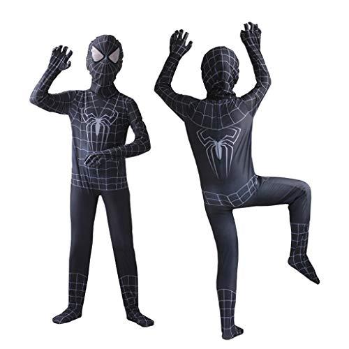 YUNMO Kinder Spider-Man Kostüm Kostüm Schwarz (größe : 140CM)