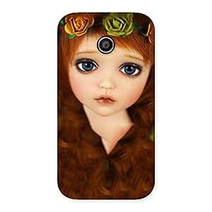 Gorgeous Tini Doll Multicolor Back Case Cover for Moto E