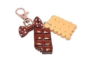 Porte clé Biscuit et tablette chocolat croquée