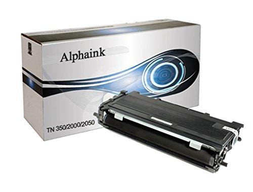 alphaink Ai-Toner kompatibel für Brother TN 2000DCP 7010dcp 7010ldcp 7020dcp 7025Fax 2820Fax 2825Fax 2920HL 2020hl 2030hl 2040hl 2050hl 2070N MFC 7225nmfc 7420MFC 7820N, 2600Kopien - Toner Tn-350 Brother