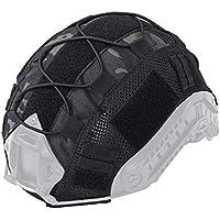 Creamon Cubiertas Militares para Cascos, Cubiertas Militares para Cascos Camuflaje Funda Airsoft Paintball Shooting Casco Accesorio para Fast Helmet Negro