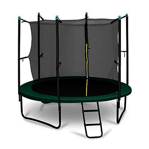 Klarfit Rocketboy 250 Cama elástica trampolin con Red de Seguridad Superficie Base 250 cm diametro...