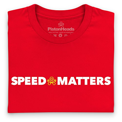 PistonHeads Speed Matters New T-Shirt, Herren Rot