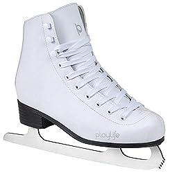 Playlife Eiskunstlauf Schlittschuhe Classic White | Knöchelpolster | Damen | Größe 36 weiß