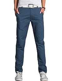 Hommes Tour De Taille Moyenne Braguette Zip Déco Bouton Contraste Couleur Pantalon Décontracté