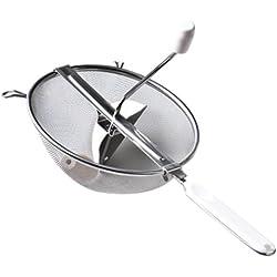 Westmark Passiersieb, Durchmesser: 20 cm, Rostfreier Edelstahl/Kunststoff, Standard, Silber/Weiß, 11972270