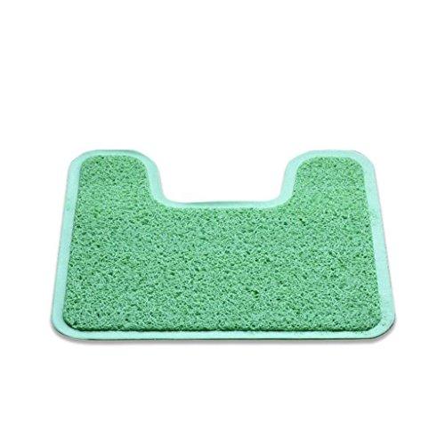 MIAORUIQIN Teppich, mehrfarbiges Badezimmertoilette wasserdichter Rutschfester PVC-Plastikteppichtoilette konkaves Pad (Farbe : #2) - Rechteckige Mehrfarbige Teppiche