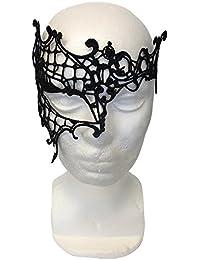 Máscara Seductora de Encaje para Fiestas de Disfraces, Sorprenda de forma discreta, al mismo tiempo que parezca estar maquillada de color negro