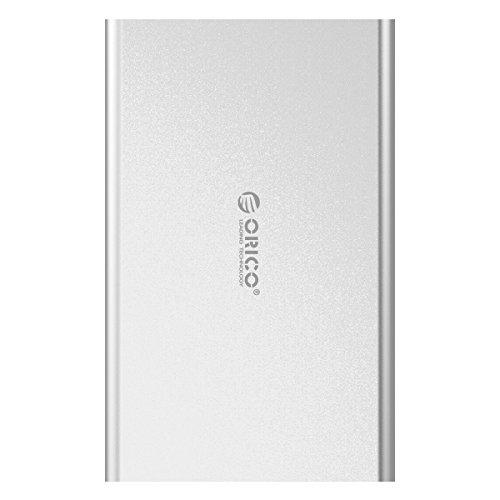 Orico - Carcasa externa para disco duro SATA HDD y SSD (USB 3.0, con UASP, 3,5 pulgadas), color plateado