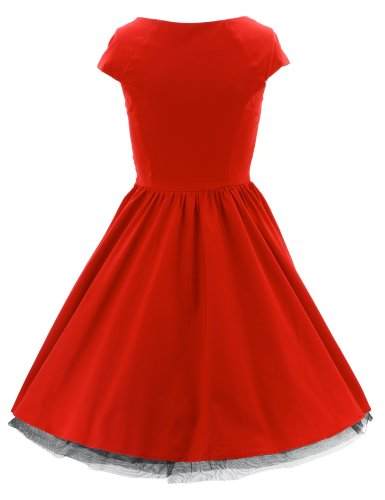 H r & london nECKS sTRIP 9052 robe robe Rouge - Rouge