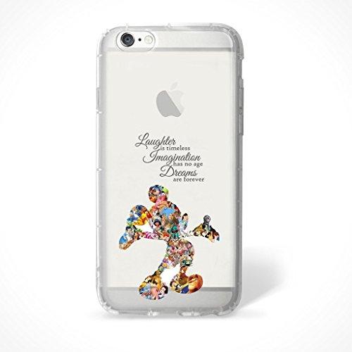 """Fan Art Telefon Hülle/Case Gel TPU Abdeckung für iPhone 6 / 6s (4.7"""") mit Display Schutz / EJC Avenue / Die Schöne und das Biest Mickey Zitat"""