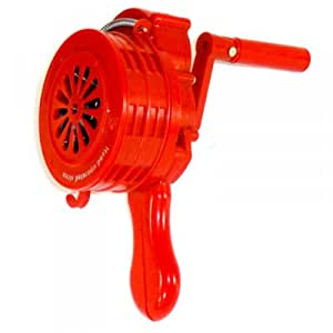 manuel sirene handsirene 110 db plastique abs alarme de protection pour pompier rouge amazon. Black Bedroom Furniture Sets. Home Design Ideas