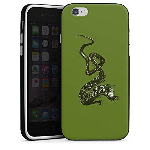 Apple iPhone X Silikon Hülle Case Schutzhülle Drache Tribal Chinesisch Silikon Case schwarz / weiß