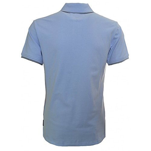 Armani Jeans Men's Slim Fit Light Blue Polo Shirt Blue