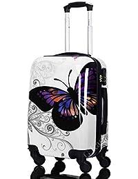 Gloria Kaos - Trolley Bagaglio a Mano Valigia Ultra Leggero In Policarbonato Flessibile (Butterfly 50cm)