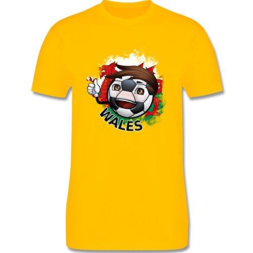 EM 2016 - Frankreich - Fußballjunge Wales - Herren Premium T-Shirt Gelb