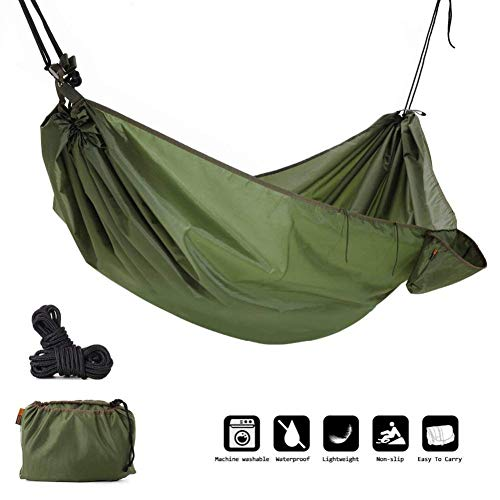 ZZPEO Multifunktions Camping Hängematte, 4 In 1 Outdoor Camping Hängematte -wasserdichte Hängematte Regen Fliegen Zelt Plane, Regen Poncho (Wandern Bei Regen Hängematte Fliegen)