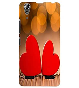 ColourCraft Love Hearts Design Back Case Cover for LENOVO A6000 PLUS