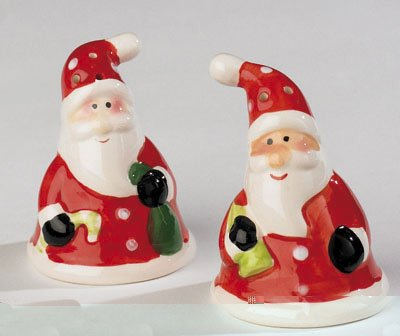 Ceramic Santa Salt & Pepper Set by Express