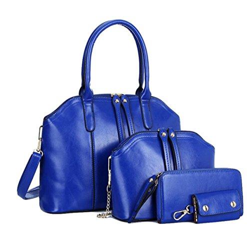 Damen Handtasche Umhängetasche Messenger Tasche Mutter Tasche Liu Nagel Wilde Einfache Mode Blue