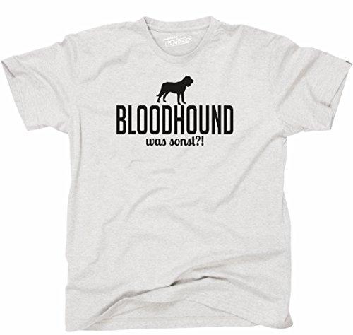 Siviwonder Unisex T-Shirt BLOODHOUND WAS SONST?! Wilsigns Hunde Hund fun ash - schwarz