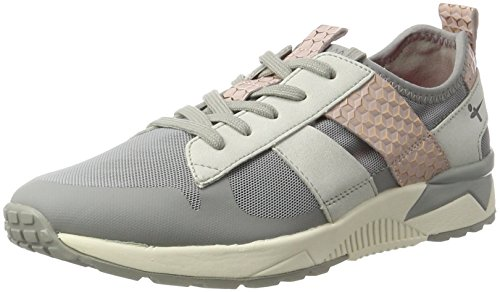 Tamaris Damen 23701 Sneakers, Grau (Stone/Rose 216), 37 EU