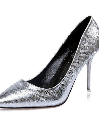 WSS 2016 Chaussures Femme-Décontracté-Noir / Argent / Or / Taupe-Talon Aiguille-Talons-Talons-PU silver-us6 / eu36 / uk4 / cn36